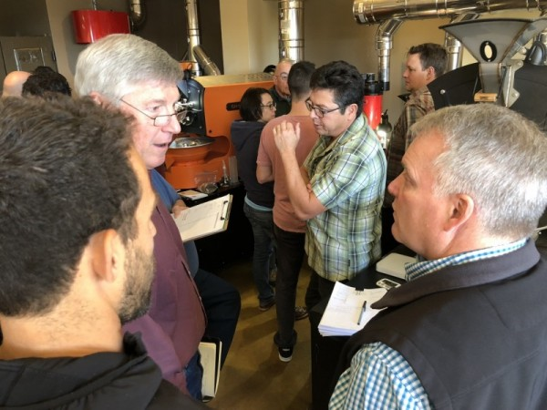 Roasting coffee class at Boot Campus