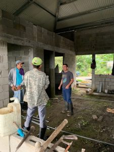 Staff in a under construction building